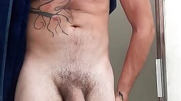 Shower, big cock, soapy, tattoos, sexy.