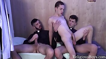 Yes Father, I Will Fuck You Both - Twink Rides 2 Priests